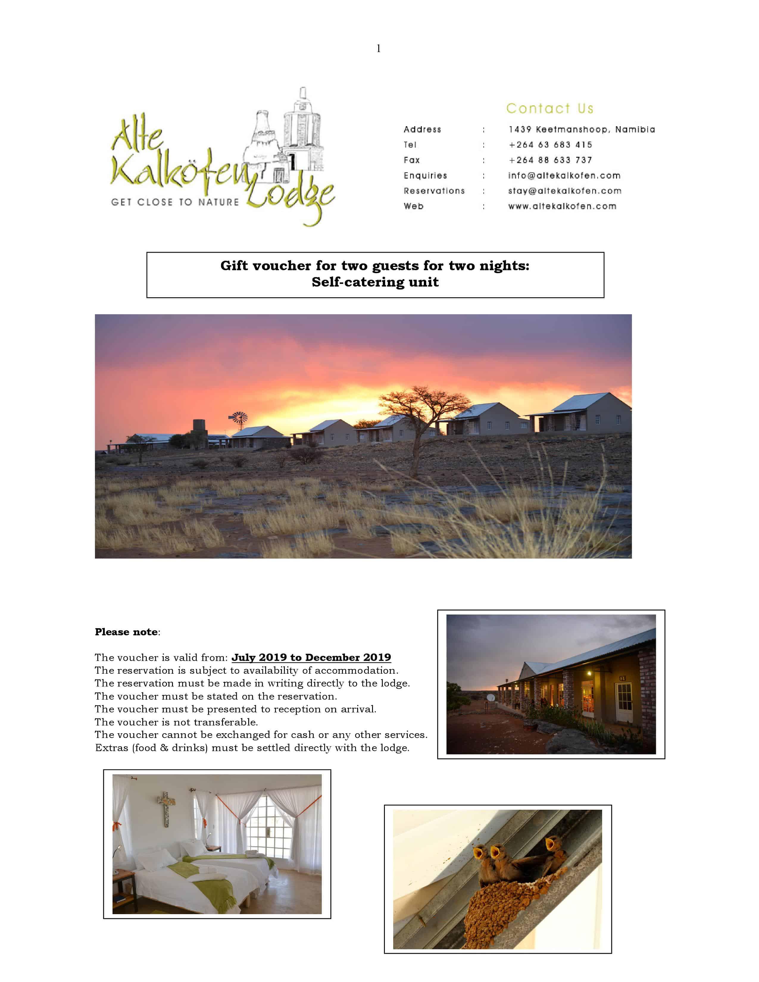 Winkelvenster – #3249 Oornagplek – Alte Kalkofen Lodge, Keetmanshoop